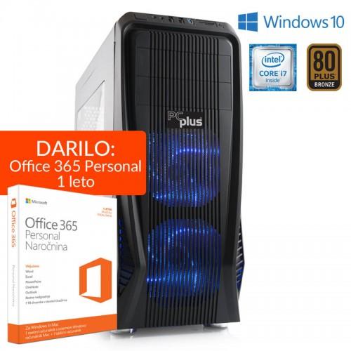 PCPLUS Dream Machine i7-6700 16GB 2TB 240GB SSD GTX 1060 6GB Win 10 + 1 leto Office 365 Personal