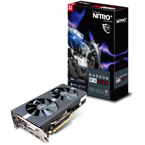 SAPPHIRE Nitro+ Radeon RX 580 OC 4GB GDDR5 (11265-07-20G) lite grafična kartica