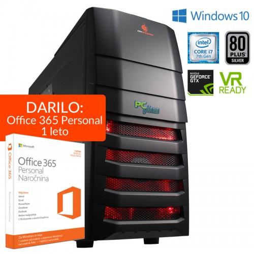 Računalnik PCPLUS Elite Gamer i7-7700 16GB 240GB SSD 2TB GTX1070 Windows 10